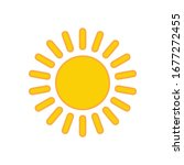 sun icon for graphic design... | Shutterstock .eps vector #1677272455