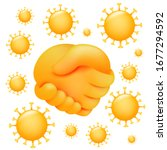 no handshake icon in 3d cartoon ... | Shutterstock .eps vector #1677294592