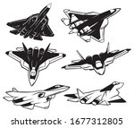 set of jet fighter. collection...