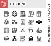gasoline simple icons set.... | Shutterstock .eps vector #1677314305