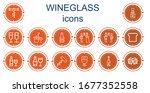 editable 14 wineglass icons for ... | Shutterstock .eps vector #1677352558
