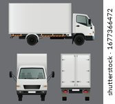 commercial delivery cargo truck ... | Shutterstock .eps vector #1677366472