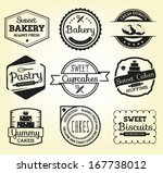 collection bakery badges and... | Shutterstock .eps vector #167738012