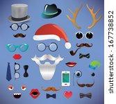 christmas silhouette set... | Shutterstock . vector #167738852