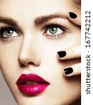 close up beauty portrait of...   Shutterstock . vector #167742212