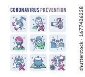 coronavirus prevention set... | Shutterstock .eps vector #1677426238