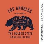 california republic vintage... | Shutterstock .eps vector #1677433732