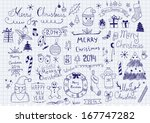 merry christmas signs collection | Shutterstock .eps vector #167747282
