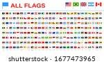 all world flags   vector pin...   Shutterstock .eps vector #1677473965