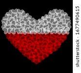 Poland Flag In Heart Shape....