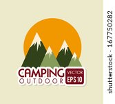 camping design over beige... | Shutterstock .eps vector #167750282