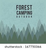 camping design over blue... | Shutterstock .eps vector #167750366