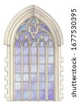 Watercolor Gothic Stained Glass ...
