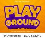 play ground text effect... | Shutterstock .eps vector #1677533242