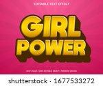 girl power text effect template ... | Shutterstock .eps vector #1677533272
