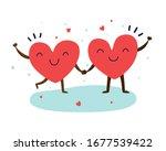 love red heart couple for...   Shutterstock .eps vector #1677539422