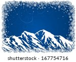 blue christmas background with... | Shutterstock . vector #167754716