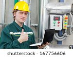 man working in a factory ... | Shutterstock . vector #167756606