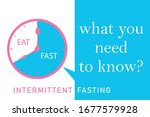 intermittent fasting what you...   Shutterstock .eps vector #1677579928