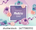 mother's day greeting card with ...   Shutterstock .eps vector #1677580552