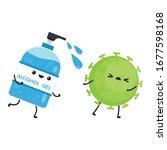 alcohol gel. alcohol gel... | Shutterstock .eps vector #1677598168