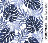 abstract seamless tropical... | Shutterstock .eps vector #1677617128