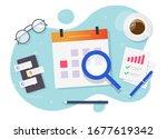 calendar important goals...   Shutterstock .eps vector #1677619342
