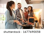 Happy People Cooking Food...