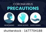 coronavirus precautions wear... | Shutterstock .eps vector #1677704188