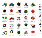 unusual icons set   isolated on ... | Shutterstock .eps vector #167772326
