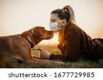 Woman Wearing A Protective Mask ...