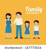 family design over yellow... | Shutterstock .eps vector #167773016