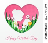 happy mother's day greeting... | Shutterstock .eps vector #1677798595