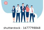 business team ready to work.... | Shutterstock .eps vector #1677798868