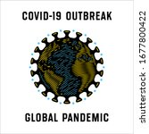 global pandemic. coronavirus... | Shutterstock .eps vector #1677800422