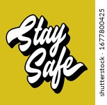 stay safe hand lettered anti... | Shutterstock .eps vector #1677800425