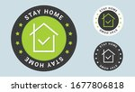 stay home stamp vector... | Shutterstock .eps vector #1677806818