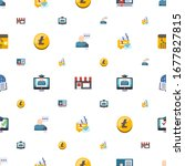 commerce icons pattern seamless.... | Shutterstock .eps vector #1677827815