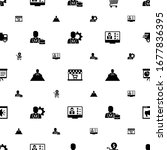 conference icons pattern... | Shutterstock .eps vector #1677836395
