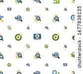 research icons pattern seamless.... | Shutterstock .eps vector #1677838135