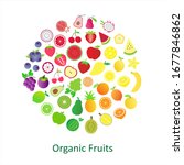 cute organic fruit flat icon... | Shutterstock .eps vector #1677846862