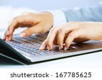close up image of businesswoman ... | Shutterstock . vector #167785625