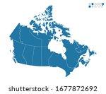 vector blue of map canada. | Shutterstock .eps vector #1677872692