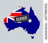 australia is closed for a... | Shutterstock .eps vector #1677884332