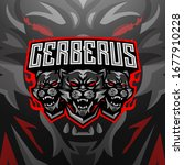 cerberus esports mascot logo... | Shutterstock .eps vector #1677910228