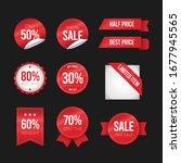 flat design of labels.... | Shutterstock .eps vector #1677945565