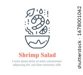 delicious shrimp salad  seafood ... | Shutterstock .eps vector #1678001062