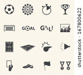 soccer icons set with texture... | Shutterstock .eps vector #167800622