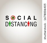 social distancing  people... | Shutterstock .eps vector #1678006405