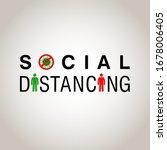 social distancing  people... | Shutterstock .eps vector #1678006405